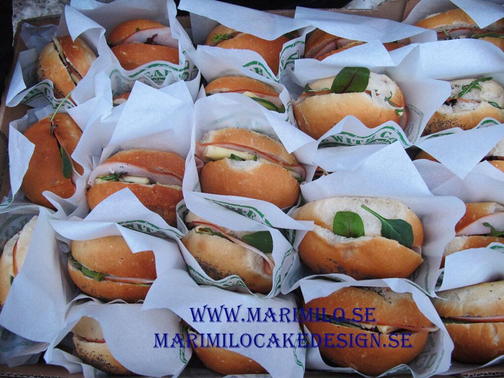 Vitt bröd fralla Ost u0026amp; skinka